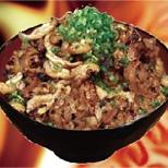 鶏皮丼ぶり(味噌汁・スープ割付)