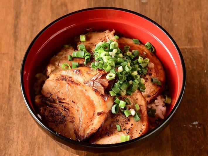 幸丼バラ+味噌汁+スープ割り